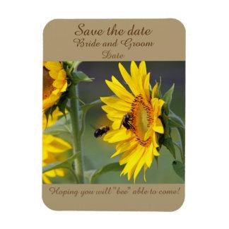 El imán del girasol y de la abeja ahorra la fecha
