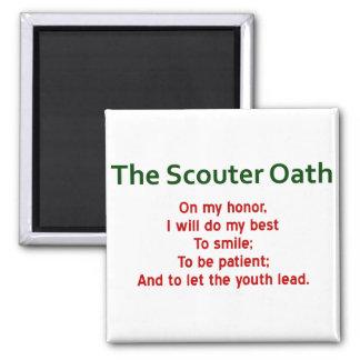 El imán del juramento de Scouter
