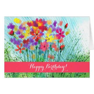 El impresionista florece la tarjeta de cumpleaños