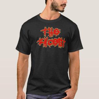 El incesto - negro/rojo camiseta