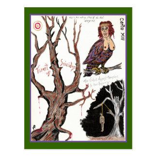 El infierno de Dante, postal del Canto XIII