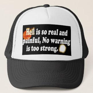 El infierno es tan doloroso gorra de camionero