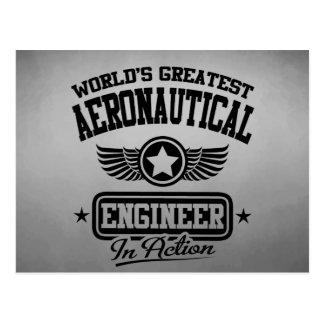 El ingeniero aeronáutico más grande del mundo en postal