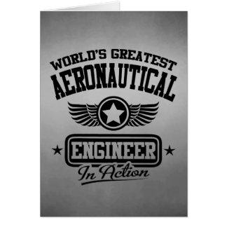El ingeniero aeronáutico más grande del mundo en tarjeta de felicitación