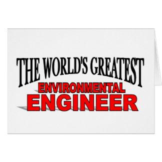 El ingeniero ambiental más grande del mundo tarjeta de felicitación