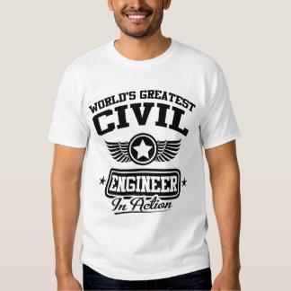 El ingeniero civil más grande del mundo en la camisetas