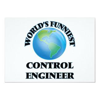 El ingeniero del control más divertido del mundo invitación 12,7 x 17,8 cm