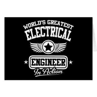 El ingeniero eléctrico más grande del mundo en la tarjeta de felicitación