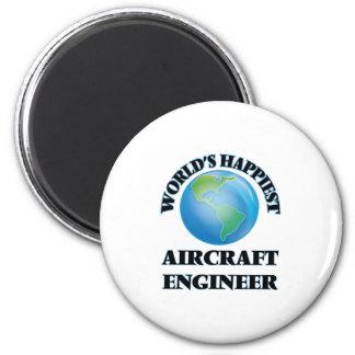 El ingeniero más feliz de los aviones del mundo imán redondo 5 cm