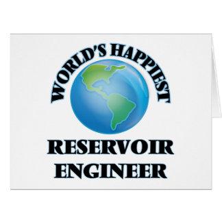 El ingeniero más feliz del depósito del mundo tarjeta de felicitación grande