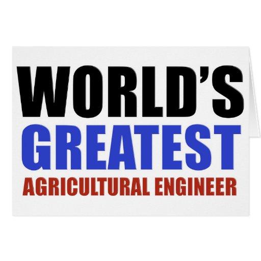 El ingeniero más grande de la agricultura del mund felicitación