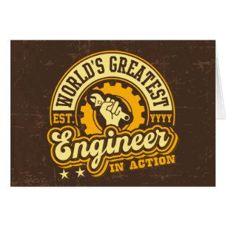 El ingeniero más grande del mundo (EST. Tarjeta De Felicitación