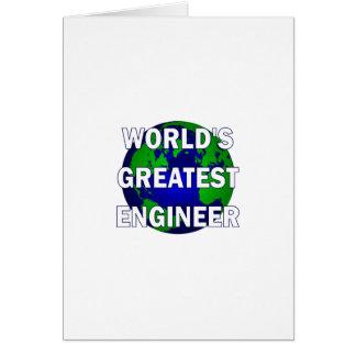 El ingeniero más grande del mundo tarjeta de felicitación