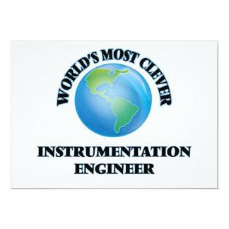 El ingeniero más listo de la instrumentación del invitación 12,7 x 17,8 cm