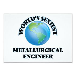 El ingeniero metalúrgico más atractivo del mundo invitación 12,7 x 17,8 cm