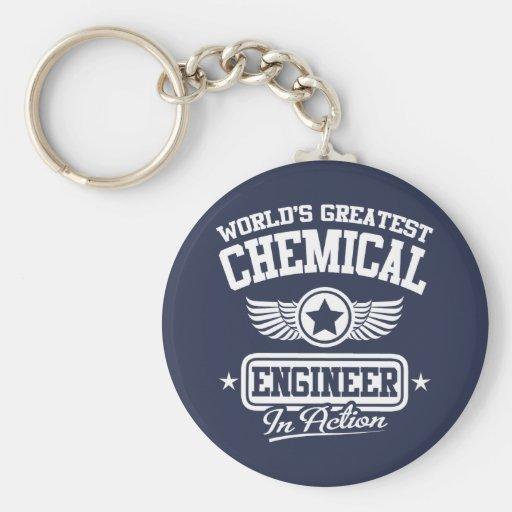 El ingeniero químico más grande del mundo en la ac llavero personalizado