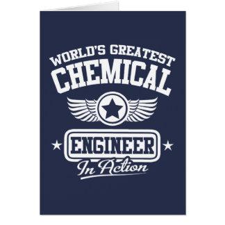 El ingeniero químico más grande del mundo en la tarjeta de felicitación