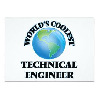 El ingeniero técnico más fresco del mundo invitación 12,7 x 17,8 cm