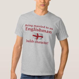 El inglés construye el carácter camisetas