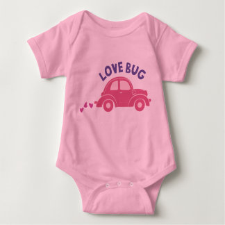 El insecto del amor embroma a tarjetas del día de body para bebé