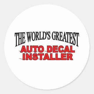 El instalador auto más grande de la etiqueta del
