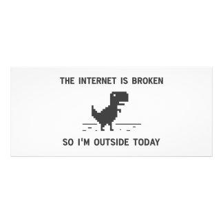 El Internet está quebrado así que estoy afuera hoy Lonas