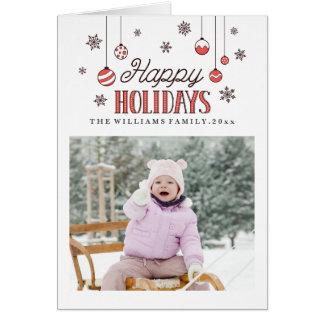 El invierno adorna la tarjeta de felicitación del