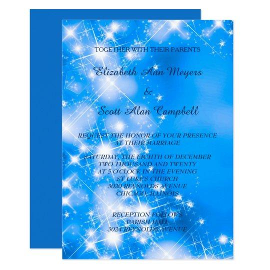El invierno azul helado protagoniza el boda formal invitación 12,7 x 17,8 cm
