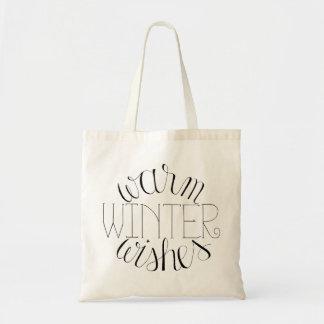 El invierno caliente desea la bolsa de asas puesta