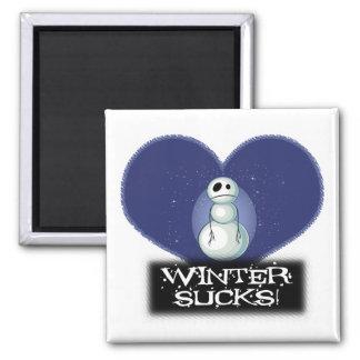 el invierno chupa el muñeco de nieve del emo imán