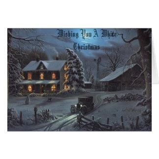 El invierno en los abuelos cultiva, deseándole un tarjeta