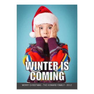 El invierno es tarjeta del día de fiesta de Meme Invitación 12,7 X 17,8 Cm