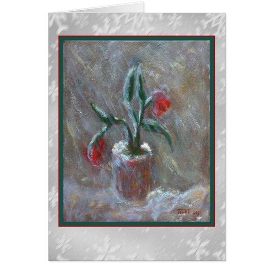 El invierno florece la tarjeta del arte