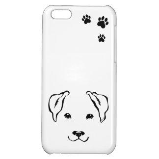 El iPhone dibujado mano única 5C del perro