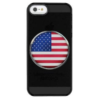 El iPhone SE/5/5S del botón de la bandera de los Funda Transparente Para iPhone SE/5/5s
