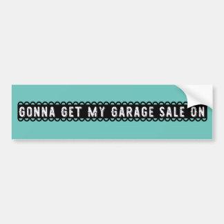El ir a conseguir mi venta de garaje en pegatina pegatina para coche