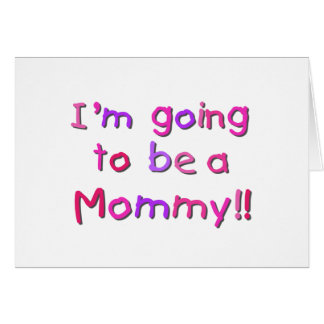 El ir a ser una mamá - rosa y púrpura tarjeton