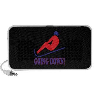 El ir abajo de 2 iPod altavoces
