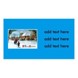 El ir al árbol de navidad del árbol de hoja tarjetas de visita