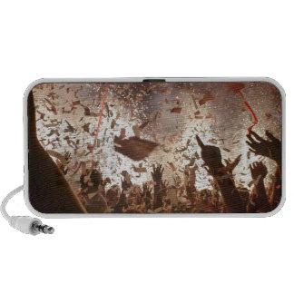 El ir de fiesta de la muchedumbre iPod altavoces