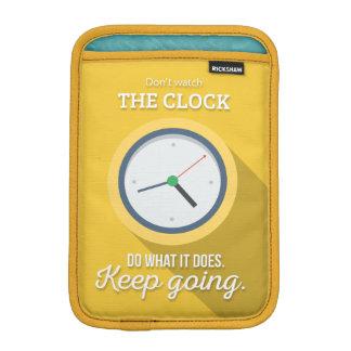 El ir Keep no mira el reloj amarillear Fundas iPad Mini