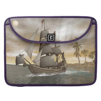 El irse del barco pirata - 3D render.j Funda Para MacBook Pro