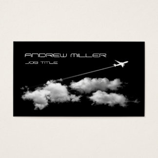 El irse volando/aeroplano del jet/agente de viajes tarjeta de visita
