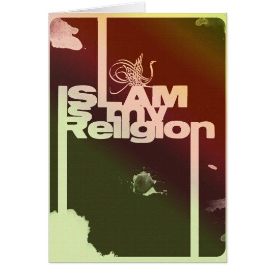 El Islam es mi religión - impresión árabe islámica Tarjeta De Felicitación