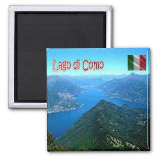 ÉL - Italia - Como - lago visto de Monte San Primo Imán Cuadrado