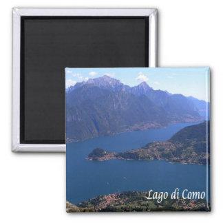 ÉL - Italia - lago Como - panorama Imán Cuadrado
