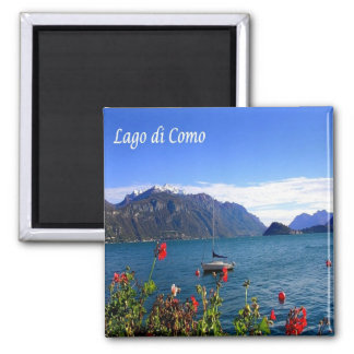 ÉL - Italia - lago Como - visión Imán Cuadrado