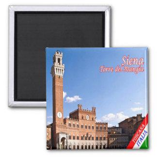 Él-Italia-Siena-Palazzo con el Torre del Mangia Imán Cuadrado