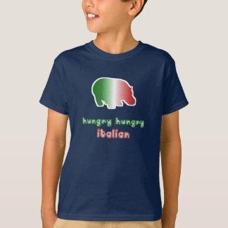 El italiano hambriento embroma la camiseta
