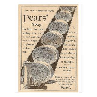 El jabón de las peras postal